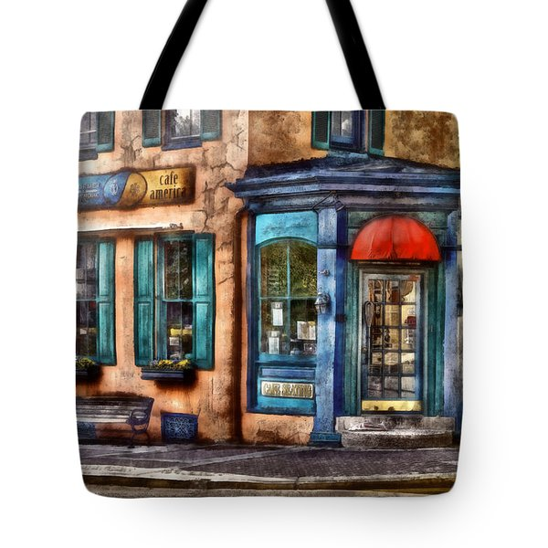 Cafe - Cafe America Tote Bag by Mike Savad