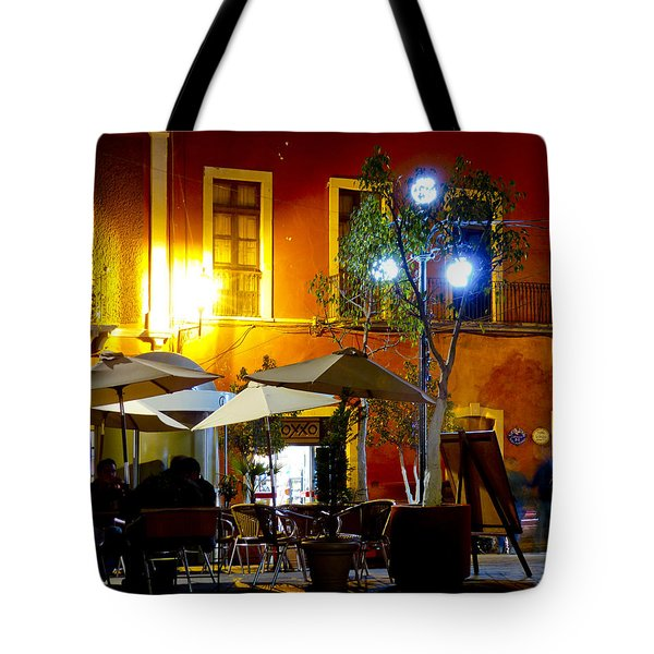 Cafe Evening Tote Bag by Douglas J Fisher