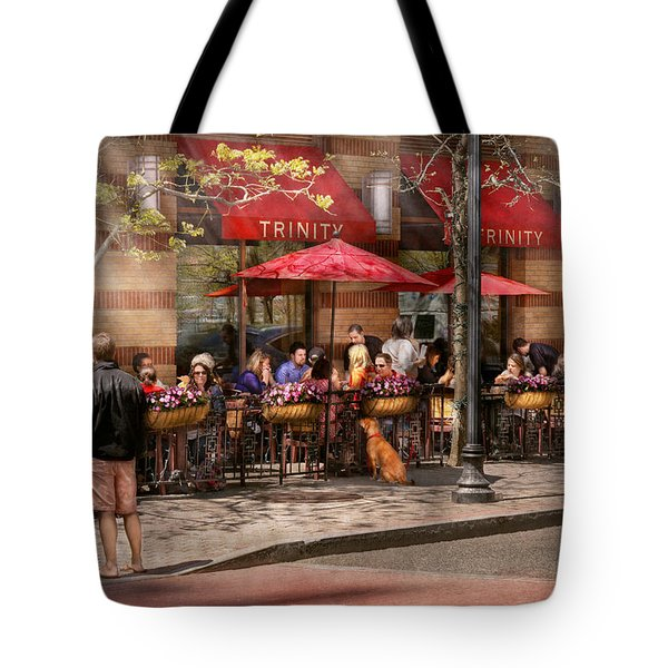 Cafe - Hoboken NJ - Cafe Trinity  Tote Bag by Mike Savad