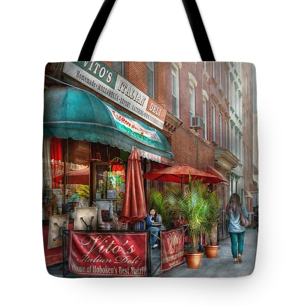Cafe - Hoboken NJ - Vito's Italian Deli  Tote Bag by Mike Savad