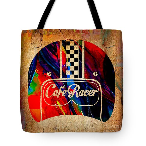 Cafe Racer Motorcycles Tote Bag by Marvin Blaine