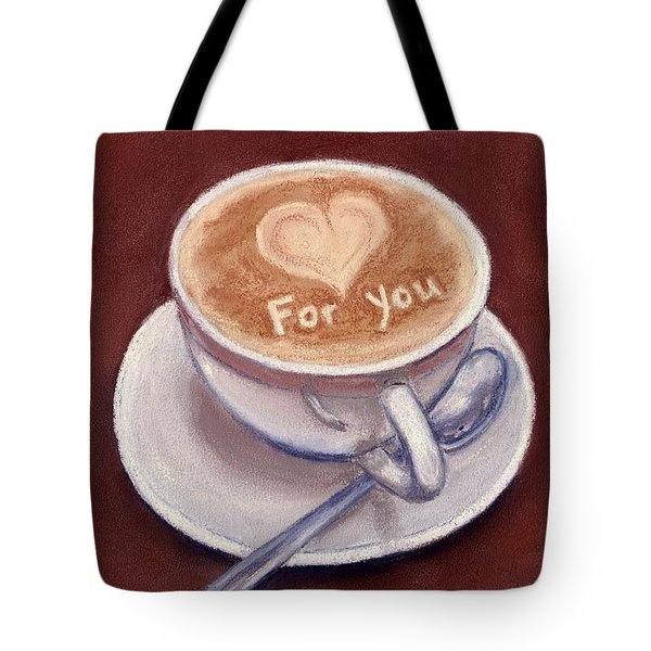 Caffe Latte Tote Bag by Anastasiya Malakhova