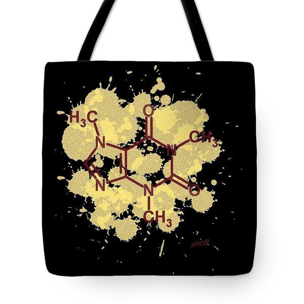 Caffeine Formula Digital Art Tote Bag by Georgeta  Blanaru