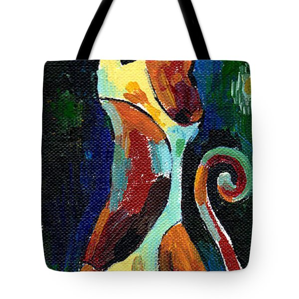 Calico Cat Abstract In Moonlight Tote Bag by Genevieve Esson