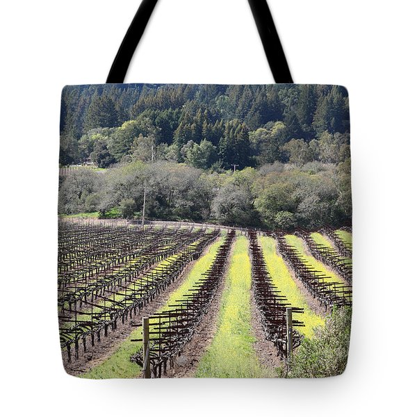 California Vineyards In Late Winter Just Before The Bloom 5D22051 Tote Bag by Wingsdomain Art and Photography