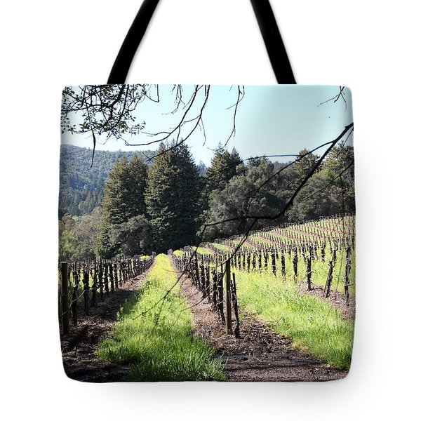 California Vineyards In Late Winter Just Before The Bloom 5d22053 Tote Bag by Wingsdomain Art and Photography
