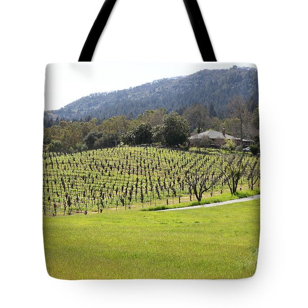 California Vineyards In Late Winter Just Before The Bloom 5d22073 Tote Bag by Wingsdomain Art and Photography