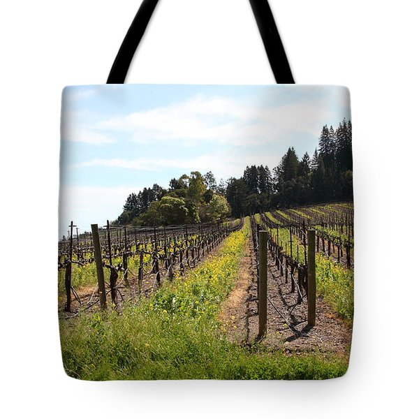 California Vineyards In Late Winter Just Before The Bloom 5D22167 Tote Bag by Wingsdomain Art and Photography
