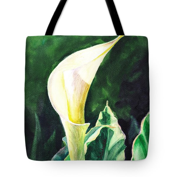 Calla Lily Tote Bag by Irina Sztukowski
