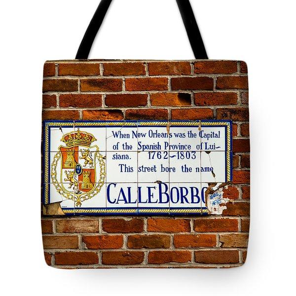 Calle Borbo Tote Bag by Susie Hoffpauir
