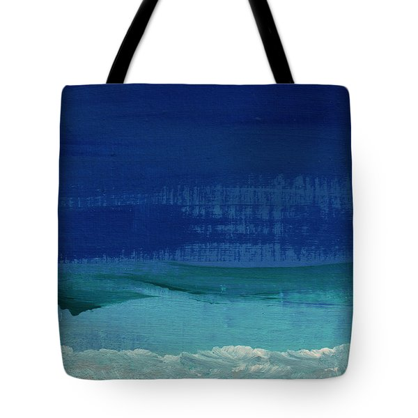 Calm Waters- Abstract Landscape Painting Tote Bag by Linda Woods