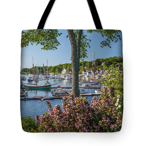Camden Harbor Spring Tote Bag by Susan Cole Kelly