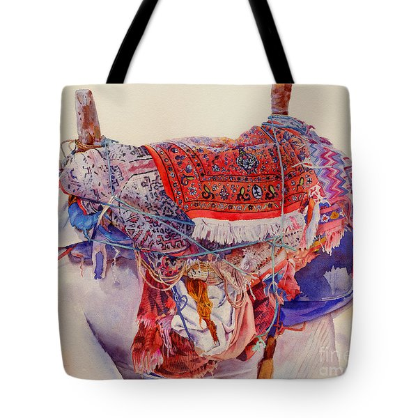 Camel Saddle Tote Bag by Dorothy Boyer