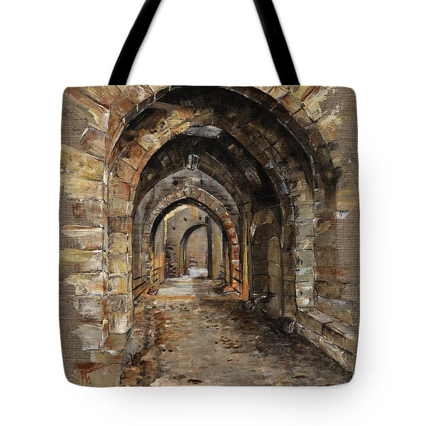 Camelot -  The Way To Ancient Times - Elena Yakubovich Tote Bag by Elena Yakubovich