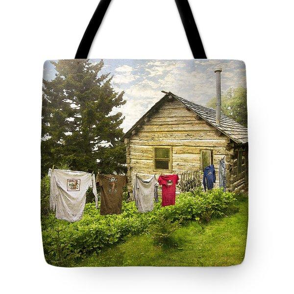 Camp Leconte Tote Bag by Debra and Dave Vanderlaan