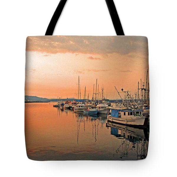 Campbell River Marina Tote Bag by Nancy Harrison