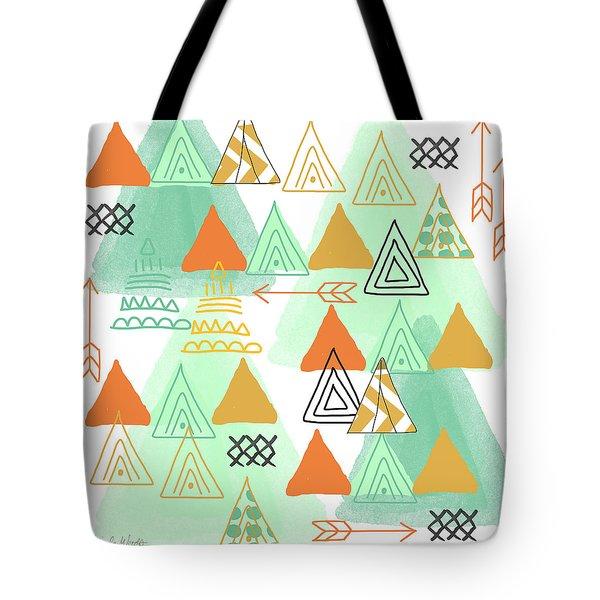 Camping Tote Bag by Linda Woods