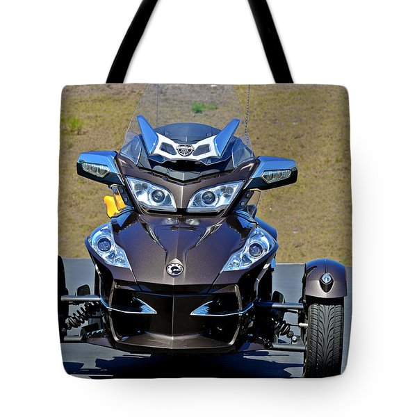 Can-am Spyder - The Spyder Five Tote Bag by Christine Till