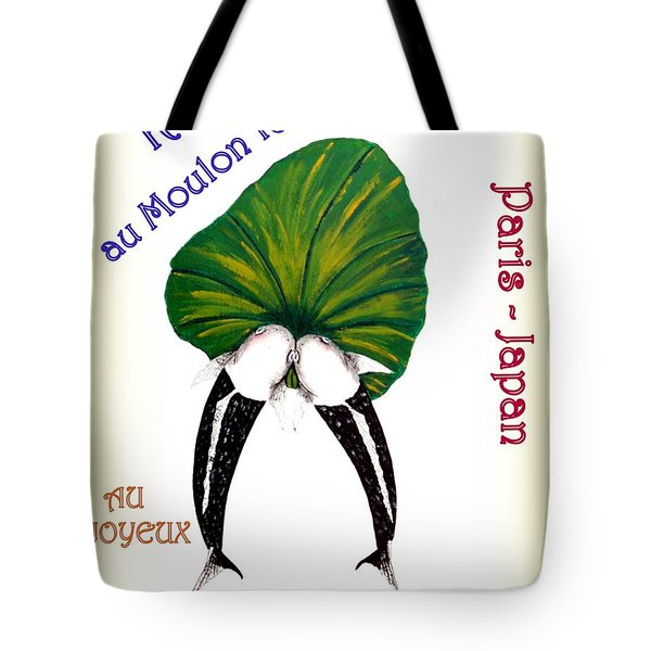 Can-can Koi Painting Tote Bag by Gordon Lavender