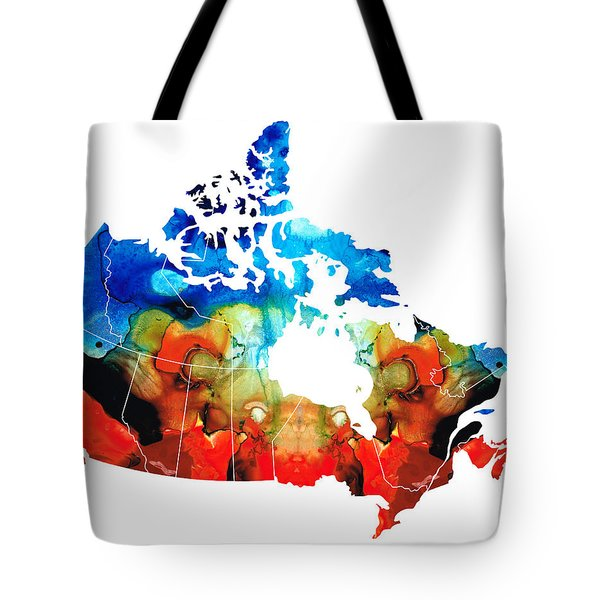 Canada - Canadian Map By Sharon Cummings Tote Bag by Sharon Cummings