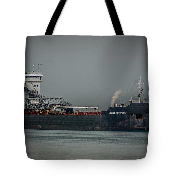 Canadian Enterprise Tote Bag by Ronald Grogan