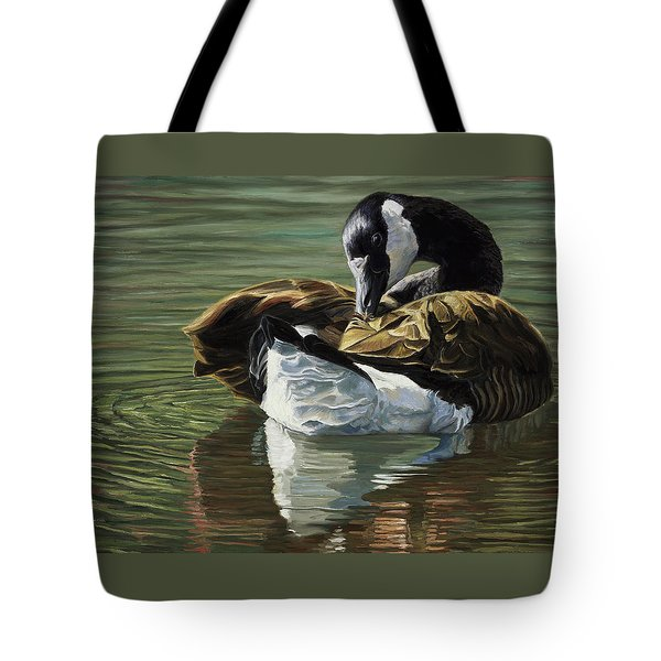Canadian Goose Tote Bag by Lucie Bilodeau