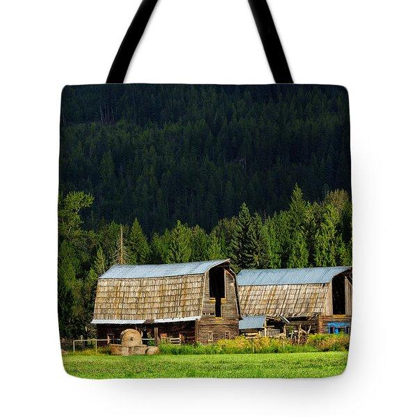 Canadian Twins Tote Bag by Kathleen Bishop
