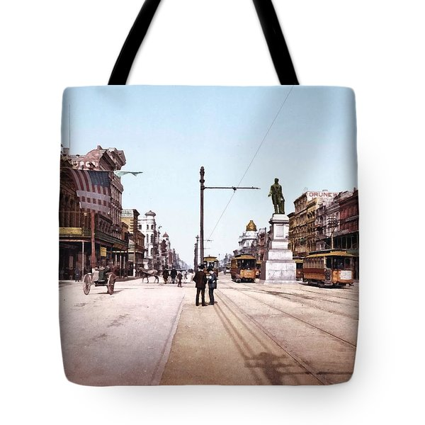 Canal Street New Orleans 1900 Tote Bag by Unknown
