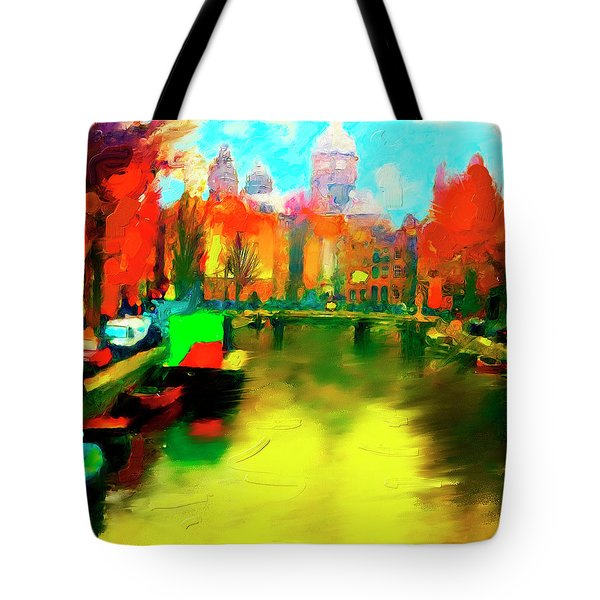 Canals Of Amsterdam Tote Bag by Ted Azriel
