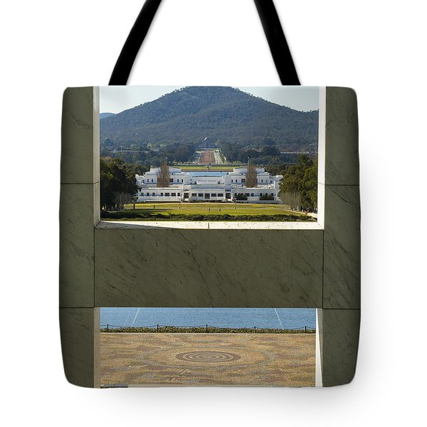 Canberra - Parliament House View Tote Bag by Steven Ralser