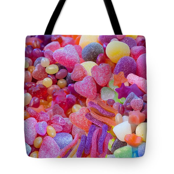 Candlyland Gumdrops Tote Bag by Alixandra Mullins