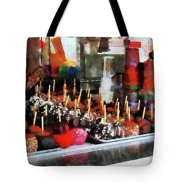Candy Apples Tote Bag by Susan Savad