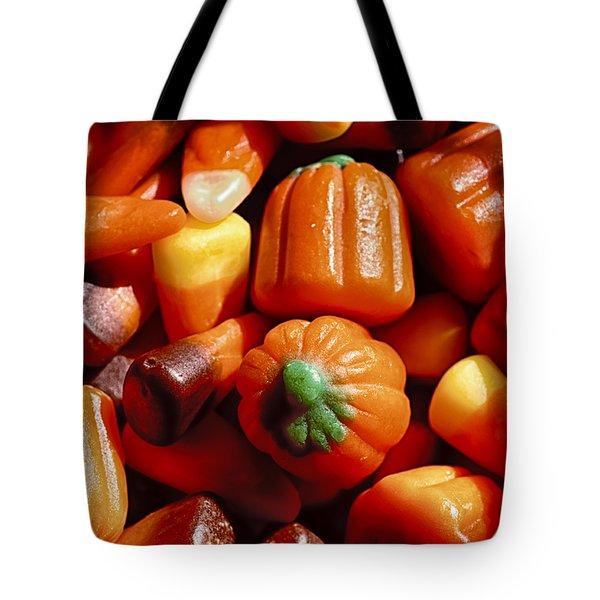 Candy Corn Tote Bag by Christi Kraft