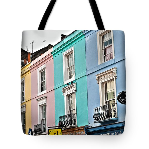 Candy Houses Tote Bag by Georgia Fowler