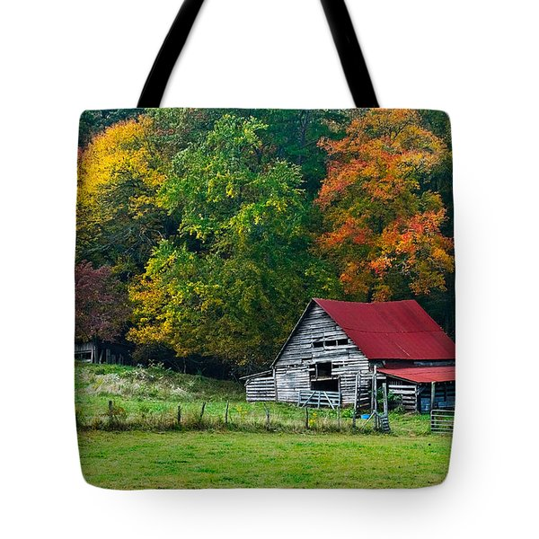 Candy Mountain Tote Bag by Debra and Dave Vanderlaan