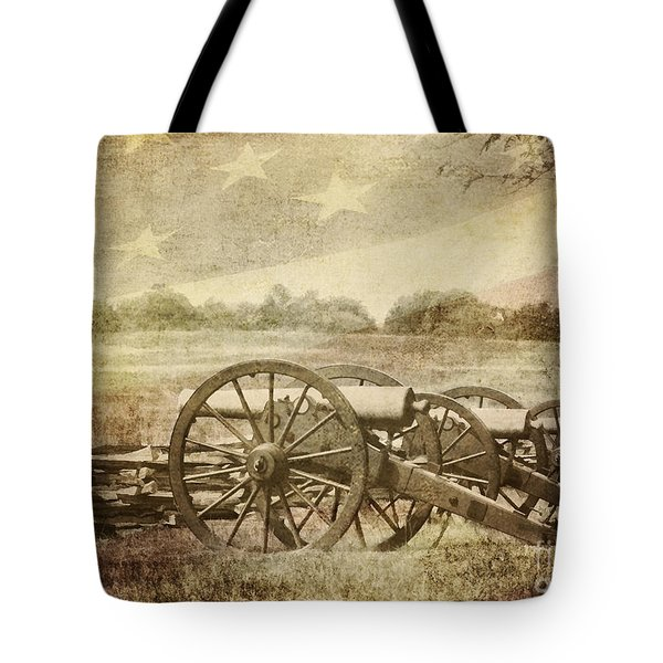 Cannons at Pea Ridge Tote Bag by Pam  Holdsworth