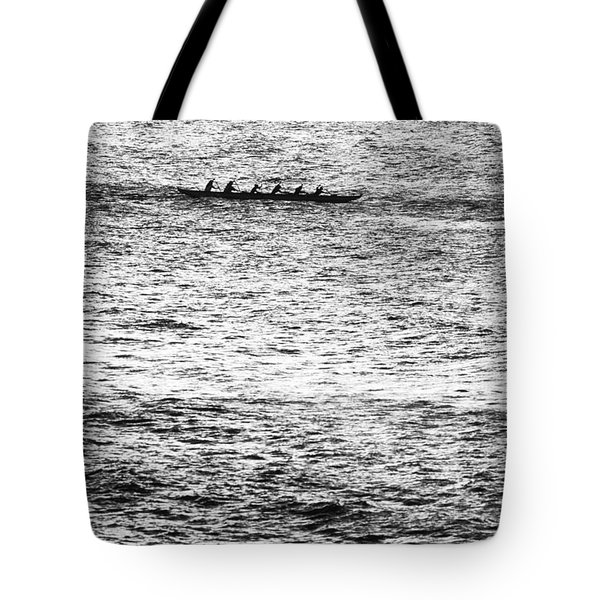 Canoe Glitter Tote Bag by Sean Davey
