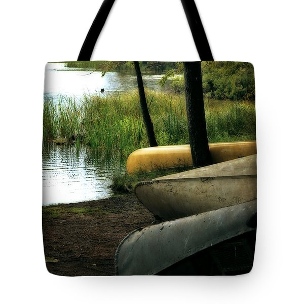 Canoe Trio Tote Bag by Michelle Calkins