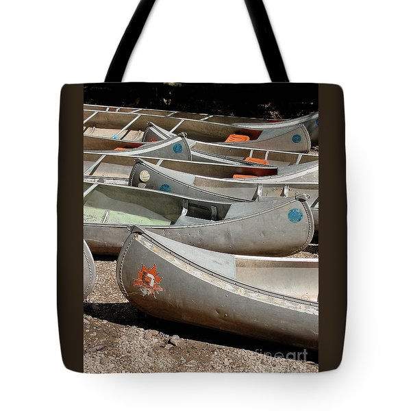 Canoes 143 Tote Bag by Gary Gingrich Galleries