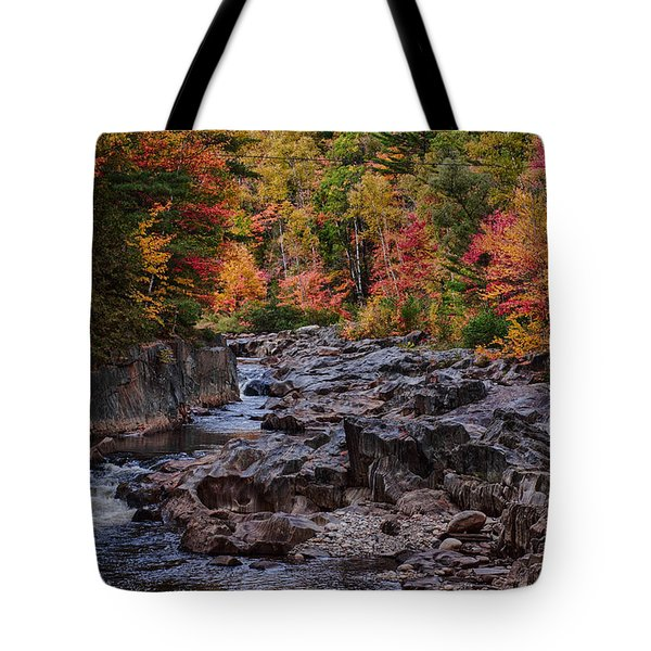 Canyon color rushing waters Tote Bag by Jeff Folger