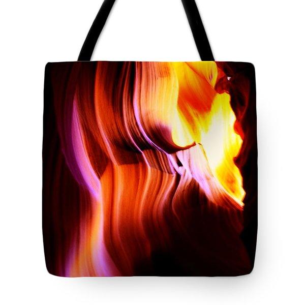Canyon Light Curves - Canyon Abstract Tote Bag by Aidan Moran