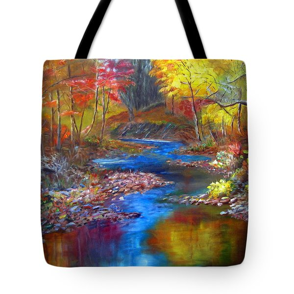 Canyon River Tote Bag by LaVonne Hand