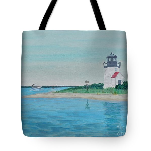 Cape Cod Chatham Lighthouse Tote Bag by Sally Rice