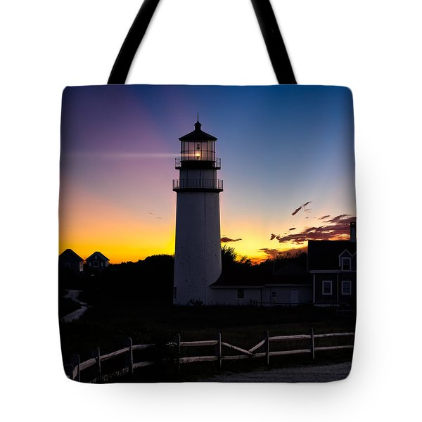 Cape Cod Light Square Tote Bag by Bill  Wakeley