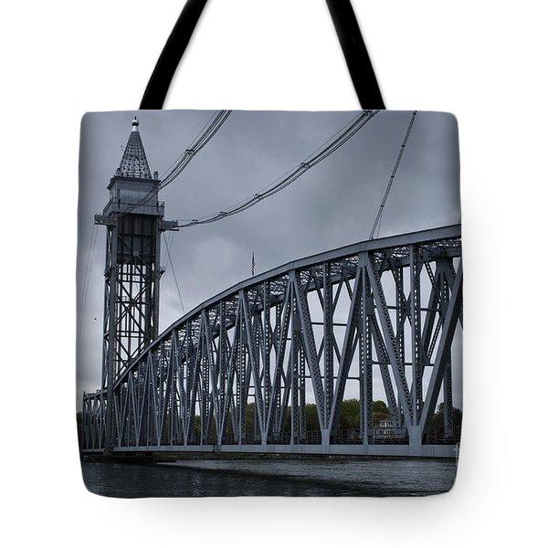 Cape Cod Railroad Bridge No. 1 Tote Bag by David Gordon