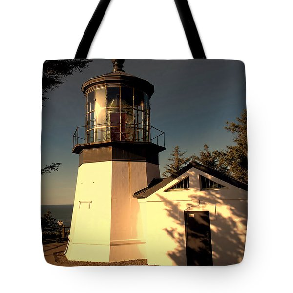 Cape Meares Lighthouse Tote Bag by Jon Burch Photography