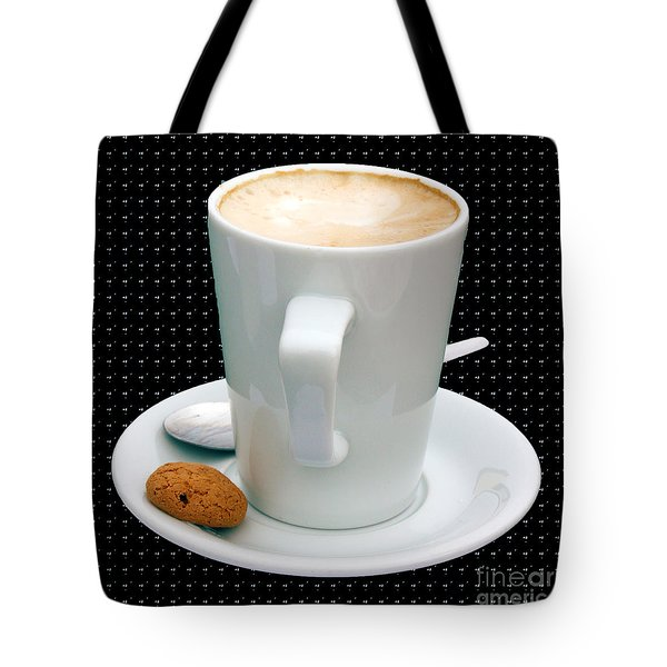 Cappuccino With An Amaretti Biscuit Tote Bag by Terri Waters