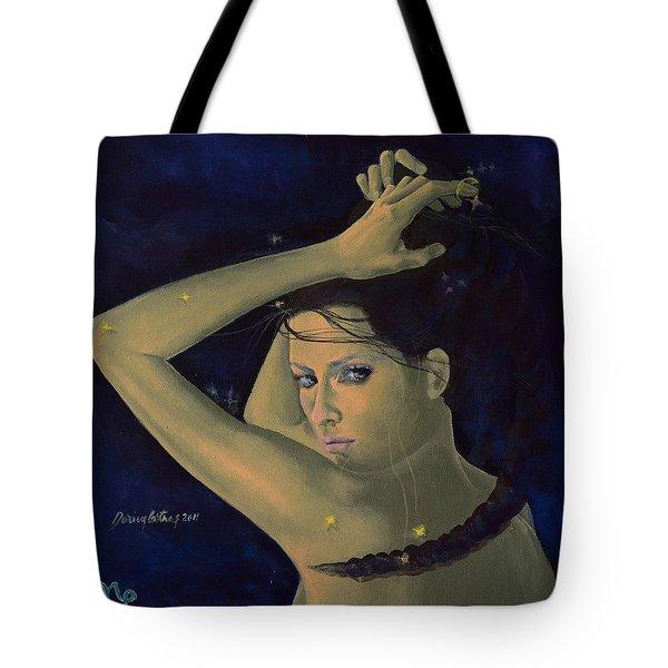 Capricorn from Zodiac series Tote Bag by Dorina  Costras