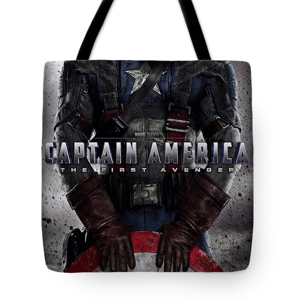Captain America The First Avenger  Tote Bag by Movie Poster Prints
