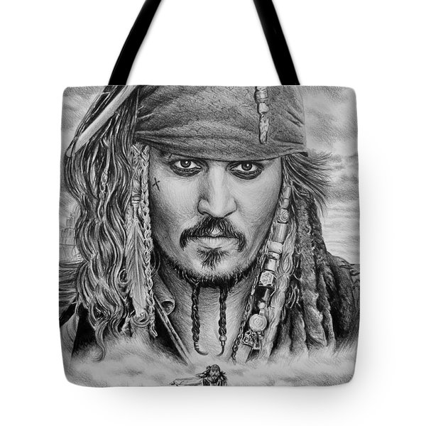 Captain Jack Sparrow Tote Bag by Andrew Read